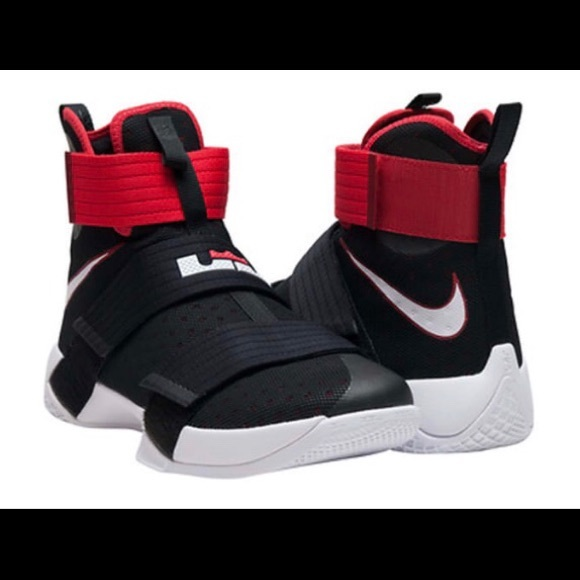 info for 13bb8 38218 Nike LeBron Soldier 10  Bred  Basketball Shoes. M 5b6f4b3a81bbc8466adfe3a1